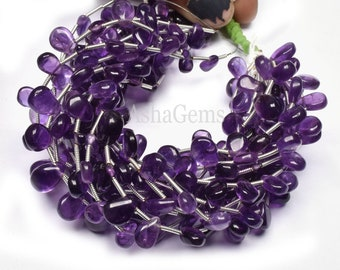 13 Natural African Amethyst Round Beads Handmade Plain Amethyst Smooth Round Balls Gemstone Beads 2 mm Jewelry Making Craft Purple Amethyst