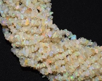 Ethiopian Welo Fire Opal Nuggets Beads 17 Strand Geniune Ethiopian Opal Smooth Nuggets 5-8 MM Natural Ethiopian Opal Tumble Beads