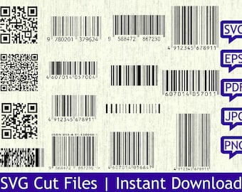 Barcode clipart | Etsy