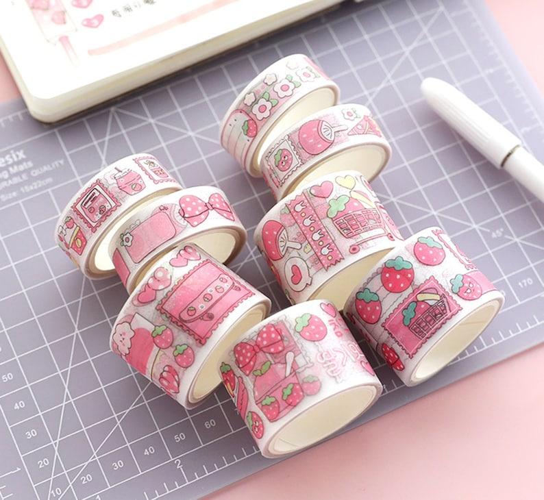 Original Washi Tape Washi Tape Set DIY Diary Decor Stationery Supplies Pink Unicorn Washi Tape Papercraft Making Tape
