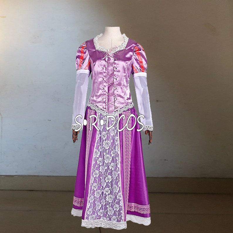 Tangled Rapunzel Princess Dress Tangled Cosplay Costume