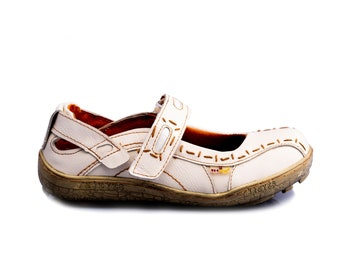 TMA 1601 Damen Halbschuh Ballerina Sandaletten Leder rot alle Grössen 36-42