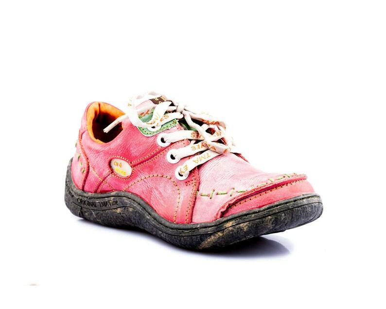 TMA 1367 Sportlicher Damen Halbschuh Sneaker Schuhe Leder schwarz alle Gr 36-42