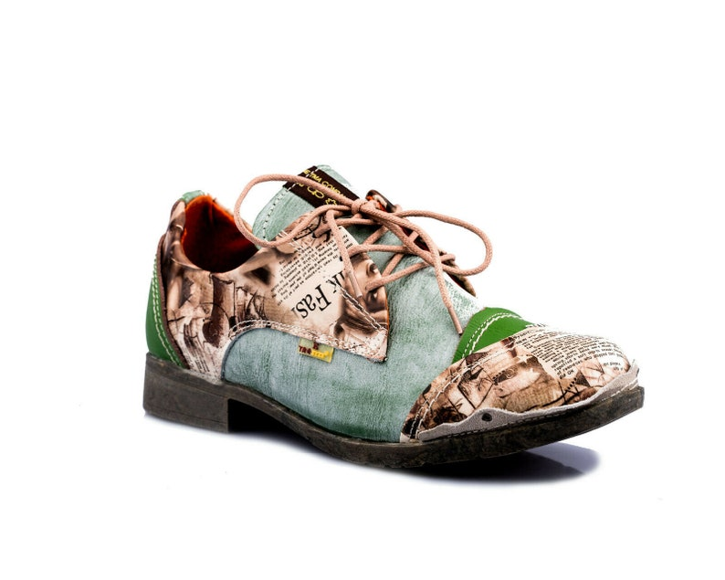 TMA 5353 Modische Damen Halbschuhe Leder Schuhe Schnürer schwarz alle Gr 36-42