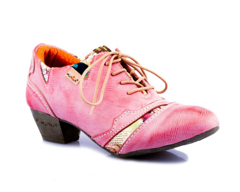TMA Damen Leder Pumps Comfort Halbschuhe echt Leder Schuhe