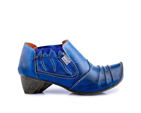 TMA 8668 Damen Pumps Halbschuhe Slipper Schuhe Leder rot alle Größen 36 42