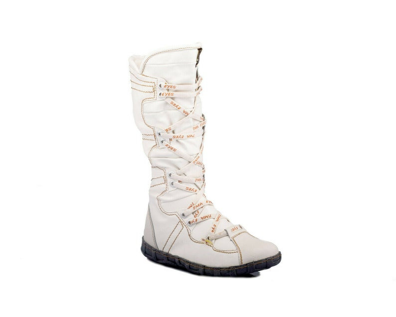 TMA 2018 Fashionable Women/'s Winter Boots lined white leather all sizes 36-42