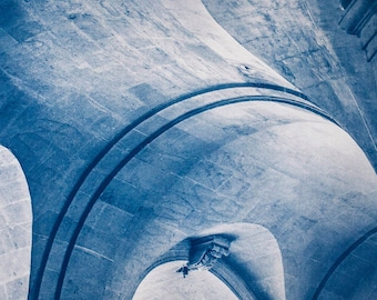 Cyanotype of Saint Roch, in Paris.