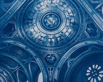 Cyanotype of Saint Francois Xavier, in Paris.