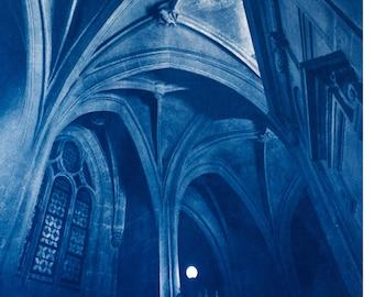Cyanotype of Saint Laurent, in Paris.