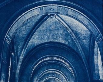Cyanotype of Saint Elizabeth, in Paris.