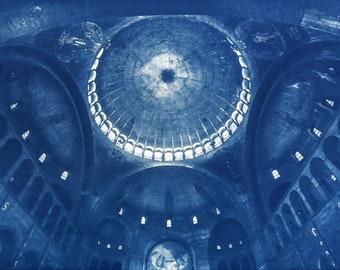 Cyanotype of Saint Esprit, in Paris.