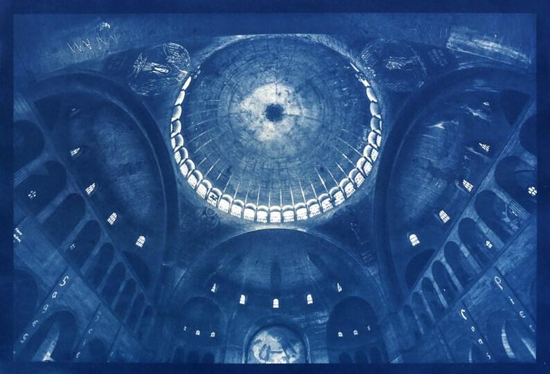 Cyanotype of Saint Esprit in Paris. image 0