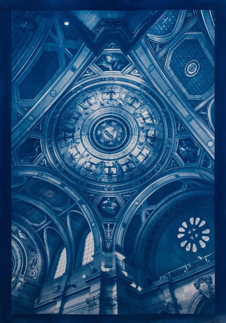 Cyanotype of Saint Francois Xavier in Paris. image 0