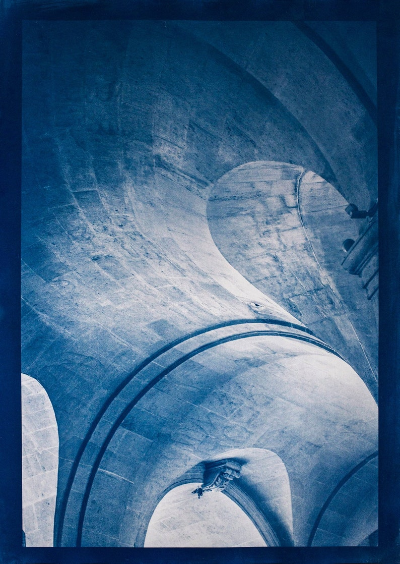 Cyanotype of Saint Roch in Paris. image 0