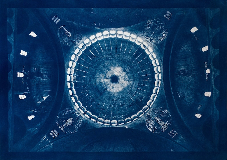 Cyanotype of the Saint Esprit church in Paris. image 0