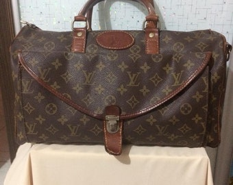 3bc8c9ab8b7e vintage rare louis vuitton lv bag monogram itally button speedy see photos  used item
