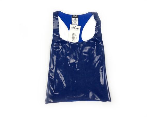 DOLCE & GABBANA - Stretch sleeveless top in Latex