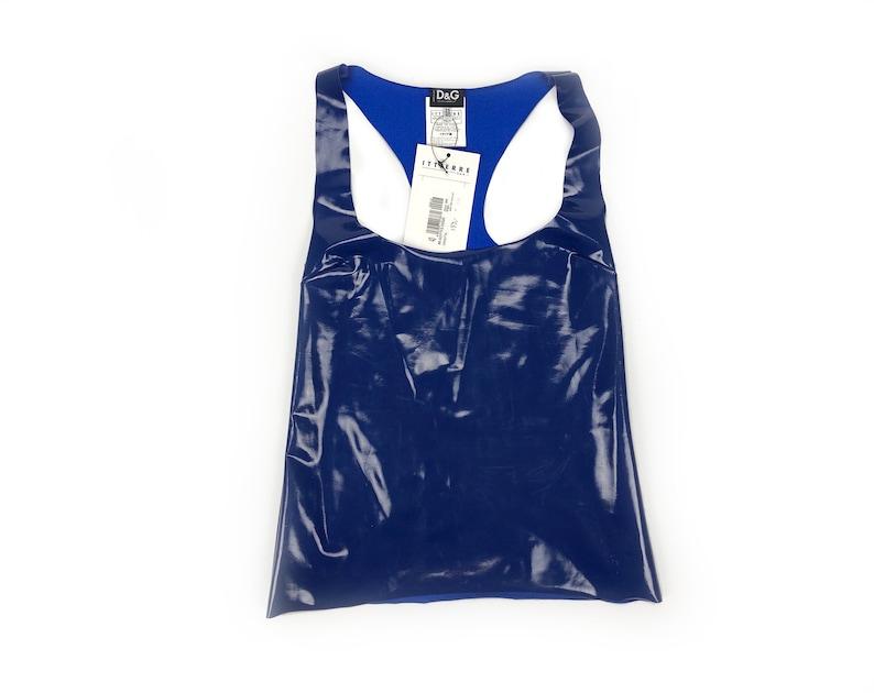 DOLCE & GABBANA  Stretch sleeveless top in Latex image 0