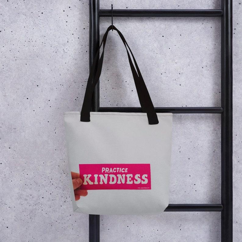 Inspirational bag Gift for her Messages bag Tote bag canvas Carrier Groceries bag Practice kindness tote bag Canvas bag