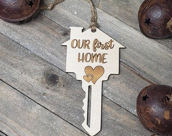 Our First Home, Wood, Christmas Ornament
