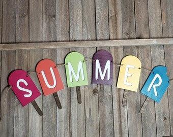 Summer, Popsicle, Garland, Bunting