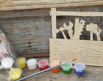 Father's Day DIY Paint Kit, Father' Day Gift, Wood Toolbox