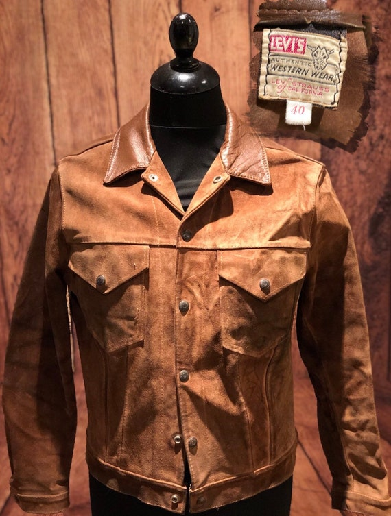 Rare 1950s 50s levis shorthorn suede leather type