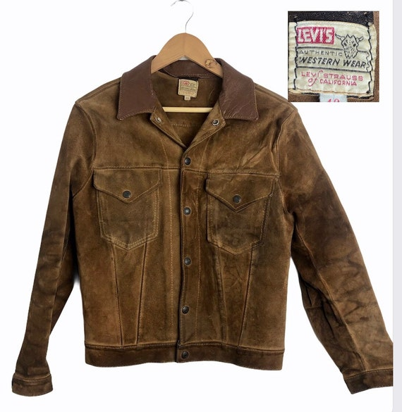 Rare 1950s 50s levis  big e shorthorn suede leathe