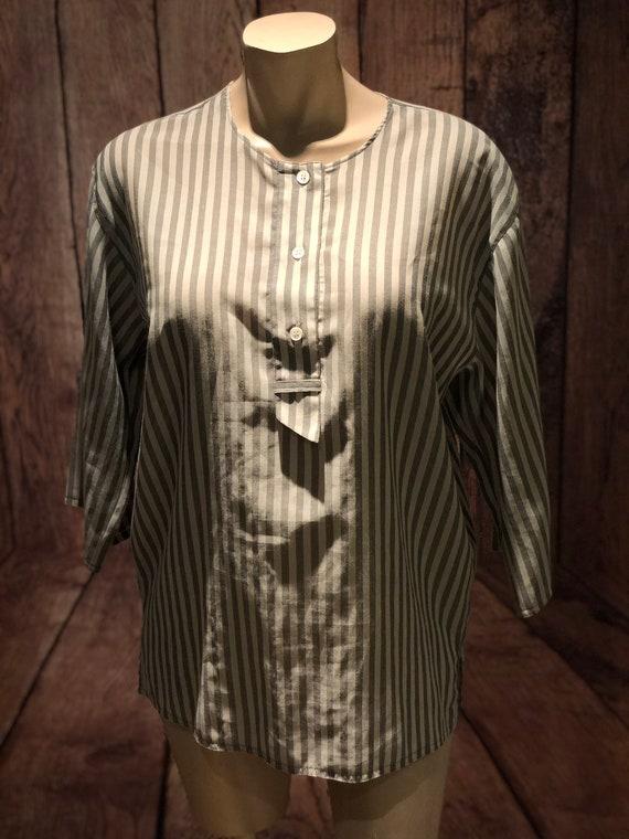Ladies vintage 1970s does 1930s 30s 40s workshirt… - image 1