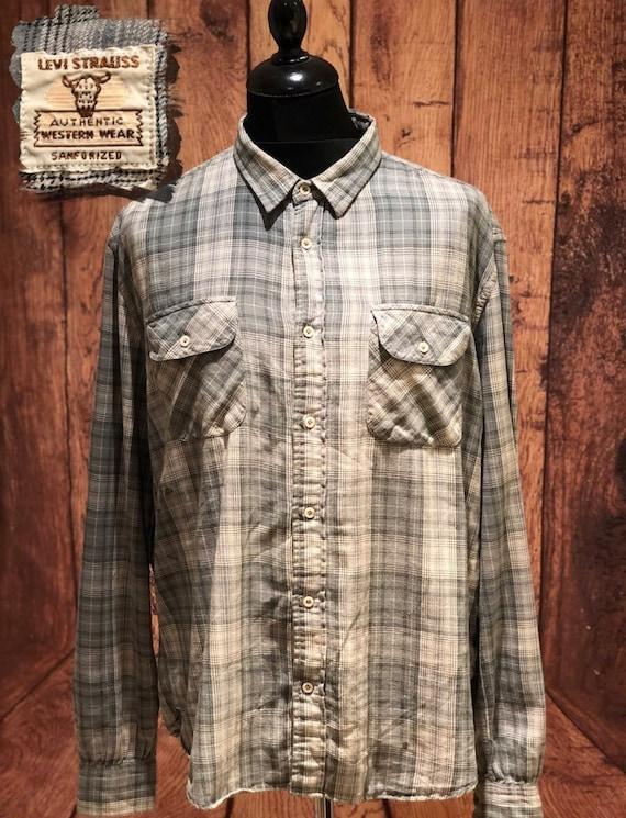 LVC Levis vintage clothing big E shorthorn flannel