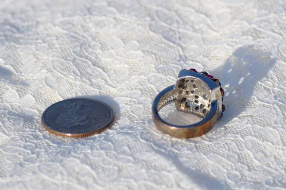 Stunning Vintage Silver Gemstone Ring // Size 7 S… - image 6