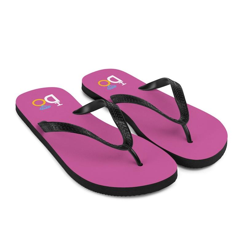 Pink I DO Wedding Flip-Flops