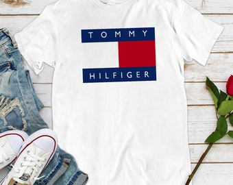7a0828c5 Vintage Tommy Hilfiger Womens Style Fashion T-Shirt Tommy Jeans Vintage  LM0027