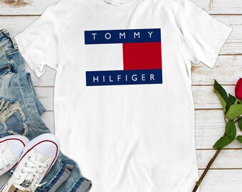 cf45ddf0 Vintage Tommy Hilfiger Womens Style Fashion T-Shirt Tommy Jeans Vintage  LM0027