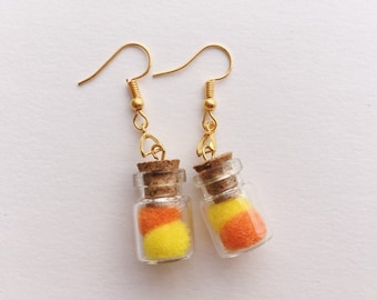 4e08031f Pom poms in a bottle earrings