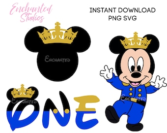image about Mickey Mouse Printable Cutouts called Royal mickey mouse Etsy