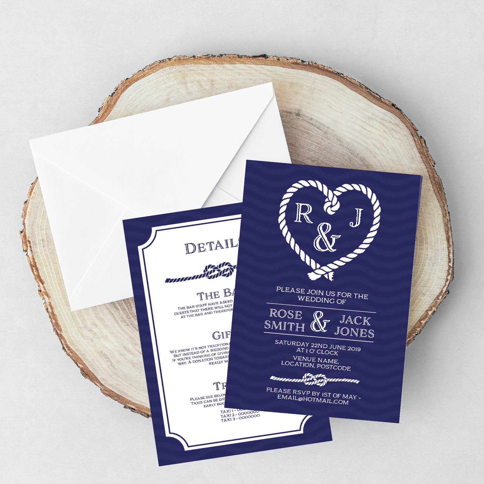 Multipack Of Nautical Wedding Invitations