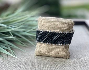 3 Souls, Handmade Beaded Bracelet, Summer Bracelet, Seed Bead Bracelet with Swarovski Crystals, Boho Womens Beaded Bracelet