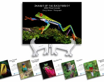 2022 Images of the Rain Forest Desk Calendar