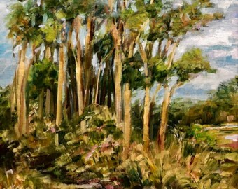 """12 x 16 Original Oil Painting, """"Path from the Marsh"""", St. Augustine, FL"""