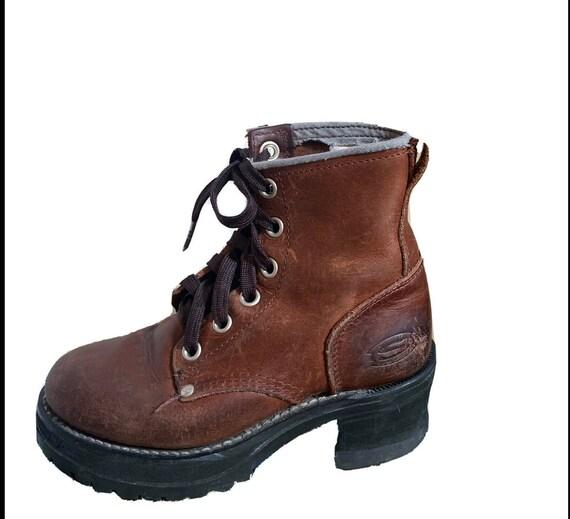 Skechers platform boots