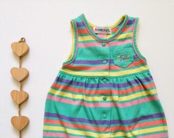 11ee4971c Vintage Gymboree Colorful Jumpsuit Infant Girl Jumper Gymboree Baby Girl  Bodysuit