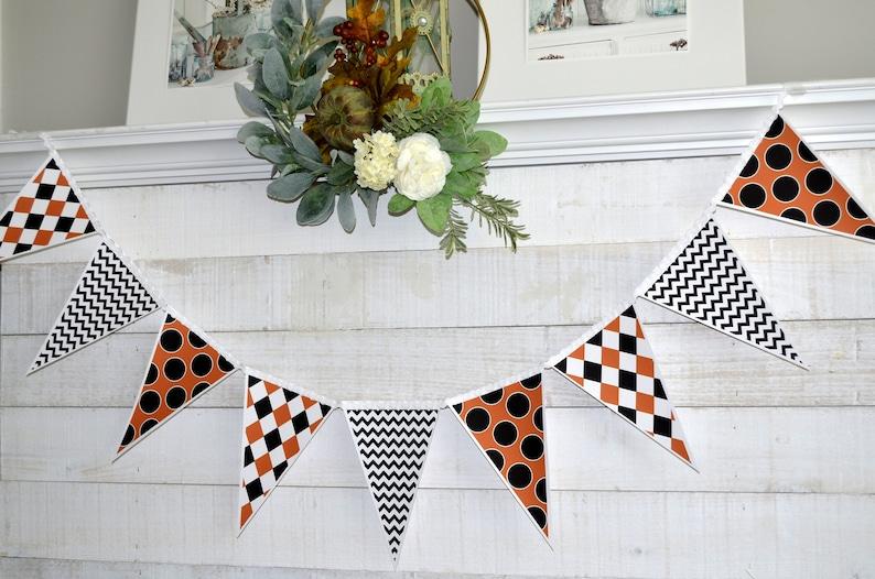 Halloween Garland Halloween Mantle Decorations, Halloween Banner Halloween Bunting