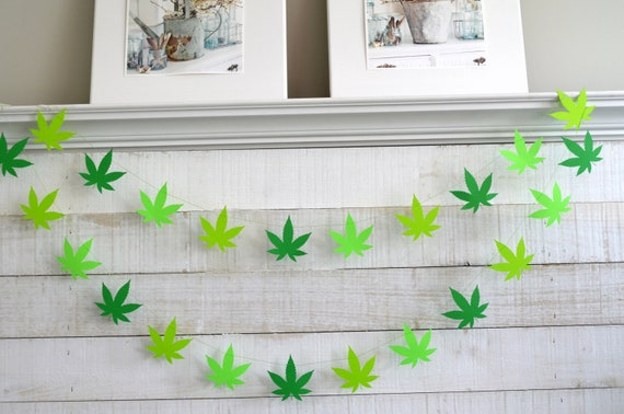 Marijuana Leaf Garland Happy 420 Party Cannabis Garland