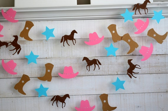 Cowgirl Party Garland Cowgirl Garland Cowgirl Party