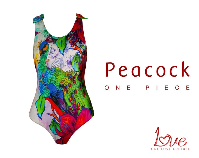 Featured listing image: One Piece Swimsuit - Peacock