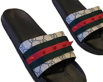 a4f1a17c9c5 Mens custom Spike Stud Slides