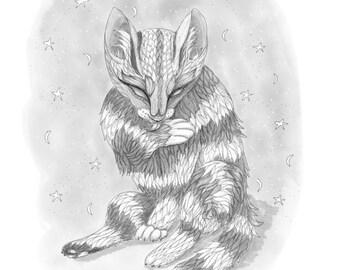 358856731 Cat drawing / Animal spirit