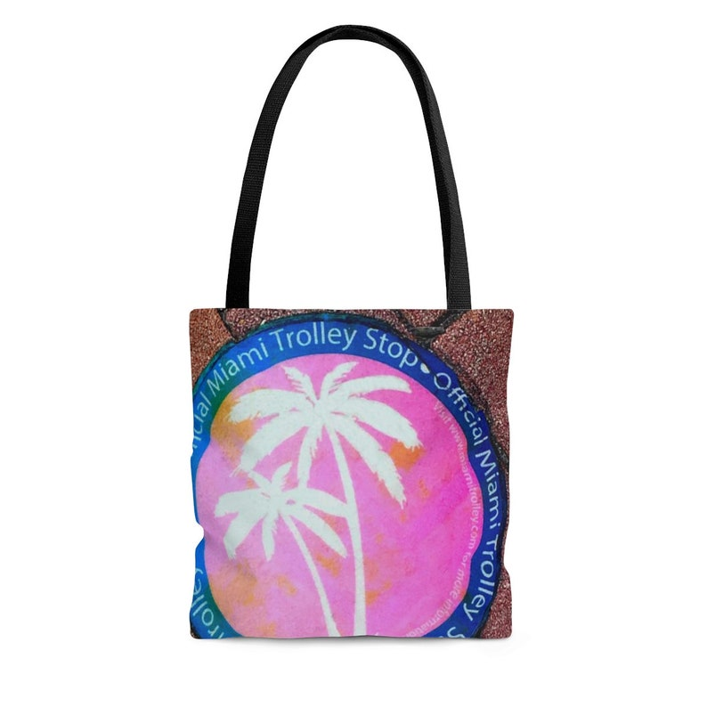 Tote bag /Miami Trolley /Miami  /Original Art /Tote /Gift image 0